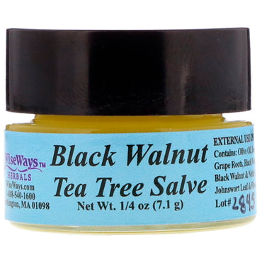 WiseWays Herbals, LLC, Black Walnut Tea Tree Salve, 1/4 oz (7.1 g)