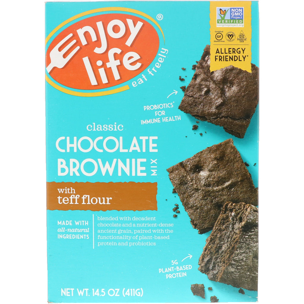 Enjoy Life Foods, Classic Chocolate Brownie Mix with Teff Flour, 14.5 oz (411 g)