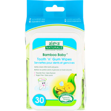Aleva Naturals, Bamboo Baby Wipes, Tooth 'n' Gum, 30 Wipes