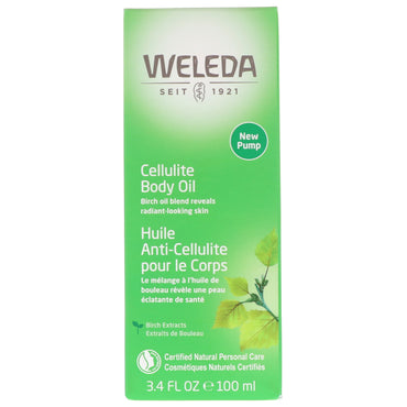Weleda, Cellulite Body Oil, Almond Extracts, Sensitive Skin, 3.4 fl oz (100 ml)