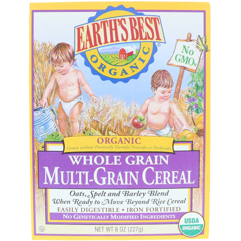 Earth's Best Organic Whole Grain Multi-Grain Cereal 8 oz (227 g)