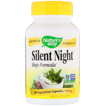Nature's Way, Silent Night Sleep Formula, 440 mg, 100 Vegetarian Capsules