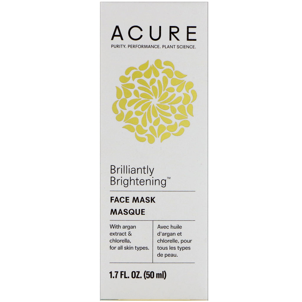 Acure, Brilliantly Brightening, Face Mask, 1.7 fl oz (50 ml)