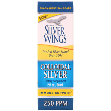 Natural Path Silver Wings, Colloidal Silver, 250 ppm, 2 fl oz (60 ml)