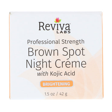 Reviva Labs, Brown Spot Night Creme, Brightening, 1.5 oz (42 g)