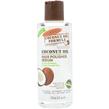 Palmer's, Coconut Oil Formula, Hair Polisher Serum, 6 fl oz (178 ml)