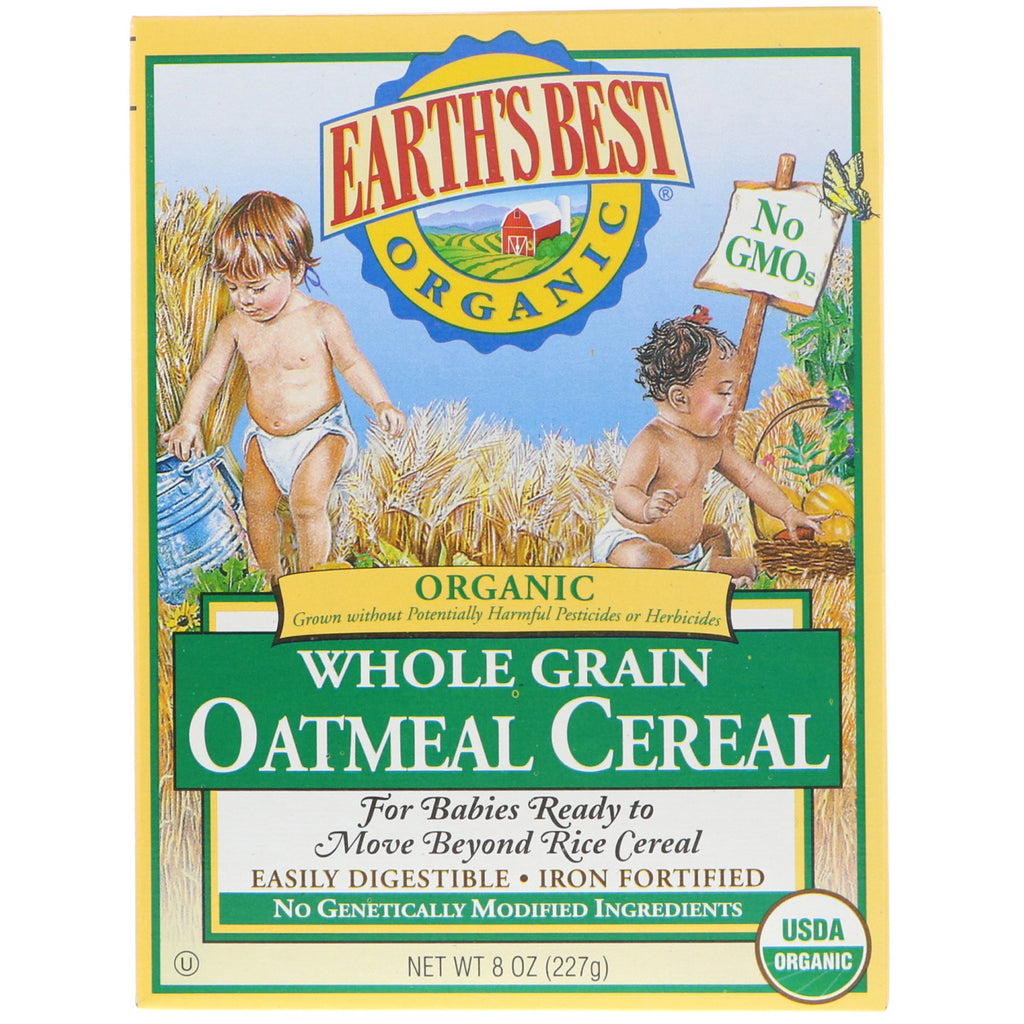 Earth's Best Organic Whole Grain Oatmeal Cereal 8 oz (227 g)