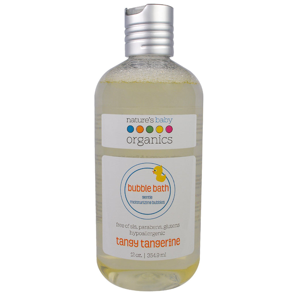 Nature's Baby Organics Bubble Bath Gentle Moisturizing Bubbles Tangy Tangerine 12 oz (354.9 ml)