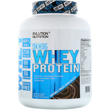 EVLution Nutrition, 100% Whey Protein, Double Rich Chocolate, 4 lb (1814 g)