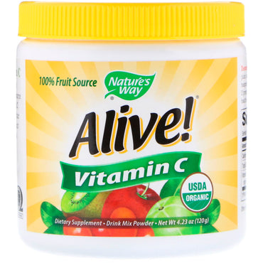 Nature's Way, Alive!, Fruit Source, Vitamin C, Drink Mix Powder, 4.23 oz (120 g)