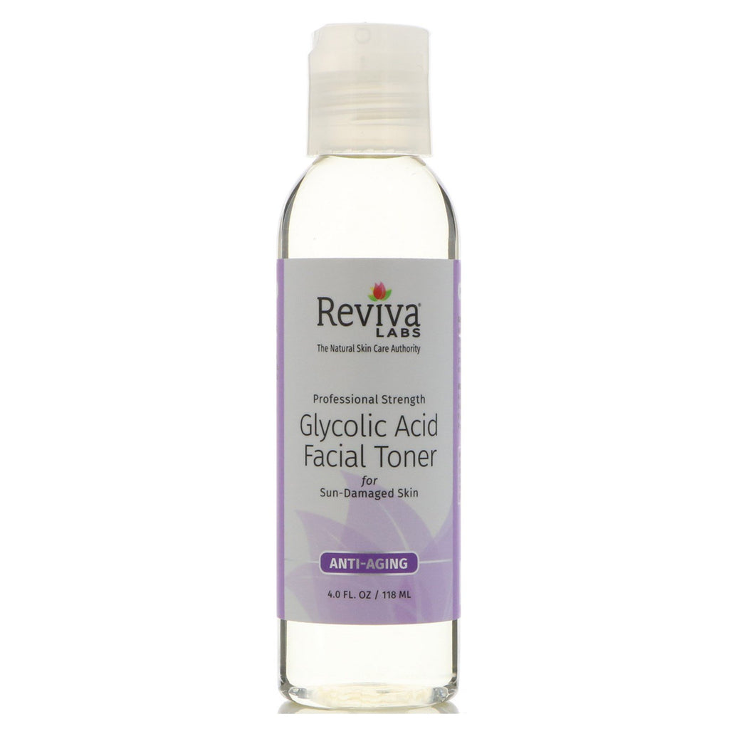 Reviva Labs, Glycolic Acid Facial Toner, 4 fl oz (118 ml)