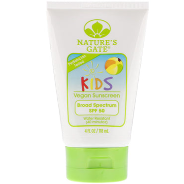 Nature's Gate Kids Broad Spectrum SPF 50 Sunscreen Fragrance-Free 4 fl oz (118 ml)