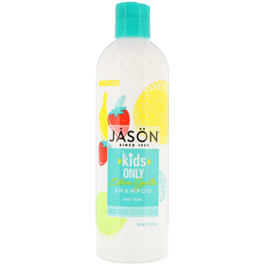 Jason Natural Kids Only Extra Gentle Shampoo 17.5 fl oz (517 ml)