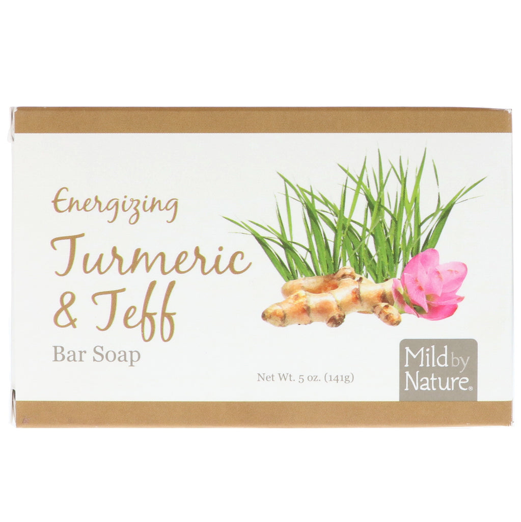 Mild By Nature, Energizing Bar Soap, Turmeric & Teff, 5 oz (141 g)
