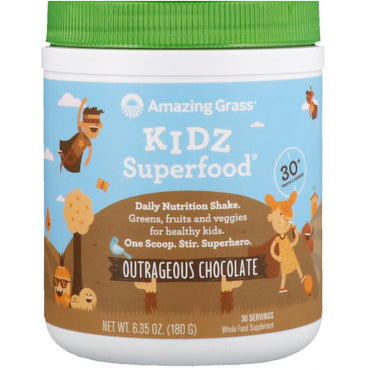 Amazing Grass, Kidz Superfood, Outrageous Chocolate, 6.35 oz (180 g)