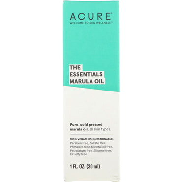 Acure The Essentials Marula Oil 1 fl oz (30 ml)
