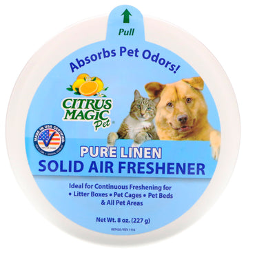 Citrus Magic, Solid Air Freshener, Pure Linen, 8 oz (227 g)