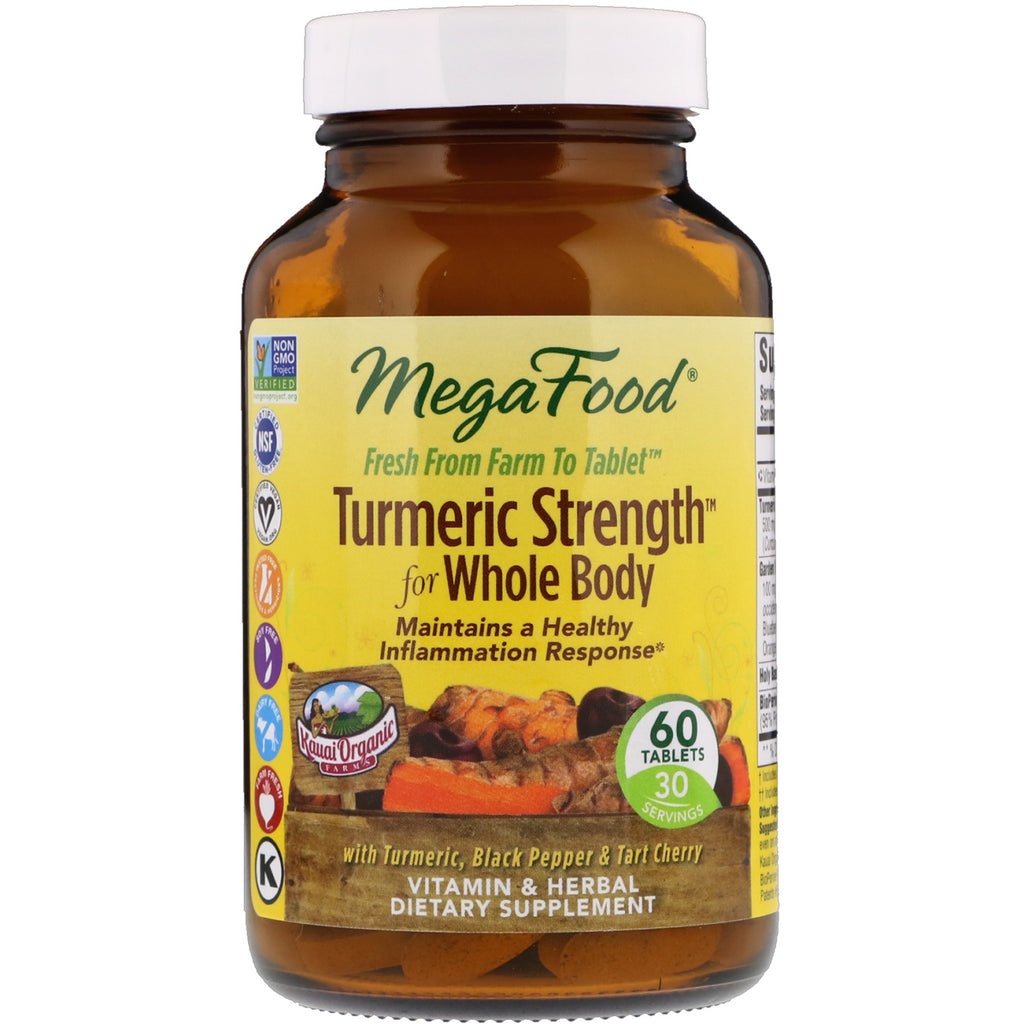 MegaFood, Turmeric Strength for Whole Body, 60 Tablets