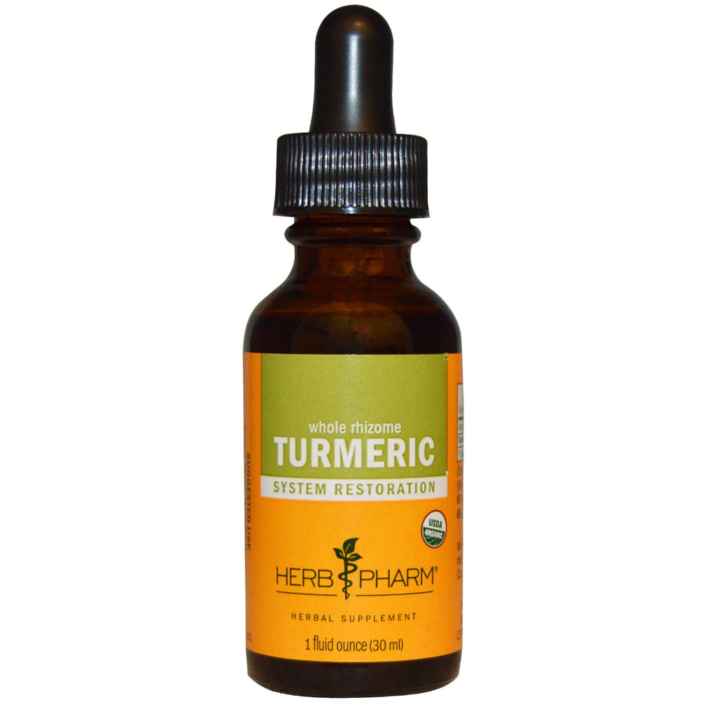 Herb Pharm, Whole Rhizome, Turmeric, 1 fl oz (30 ml)