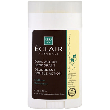 Eclair Naturals, Dual Action Deodorant, Sea Breeze, 1.5 oz (42.5 g)