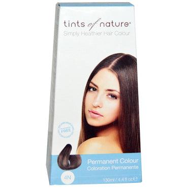 Tints of Nature, Permanent Color, Natural Medium Brown, 4N, 4.4 fl oz (130 ml)