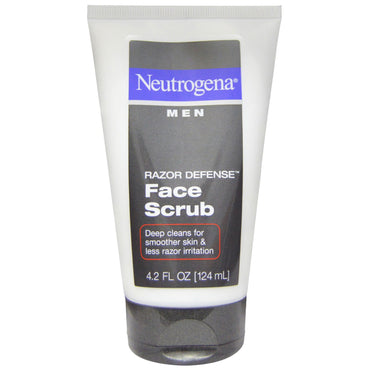 Neutrogena, Men, Razor Defense Face Scrub, 4.2 fl oz (124 ml)