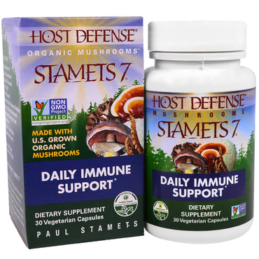 Fungi Perfecti, Host Defense, Stamets 7, Daily Immune Support, 30 Veggies Caps