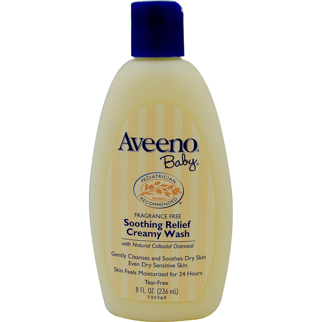 Aveeno Baby Soothing Relief Creamy Wash Fragrance Free 8 fl oz (236 ml)
