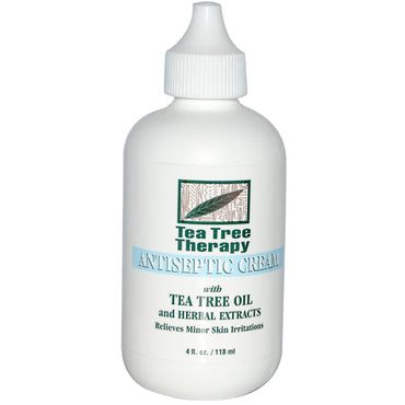 Tea Tree Therapy, Antiseptic Cream, with Tea Tree Oil and Herbal Extracts, 4 fl oz (118 ml)