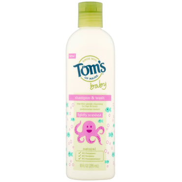 Tom's of Maine, Shampoo & Wash, Baby, Lightly Scented, 10 fl oz (295 ml)
