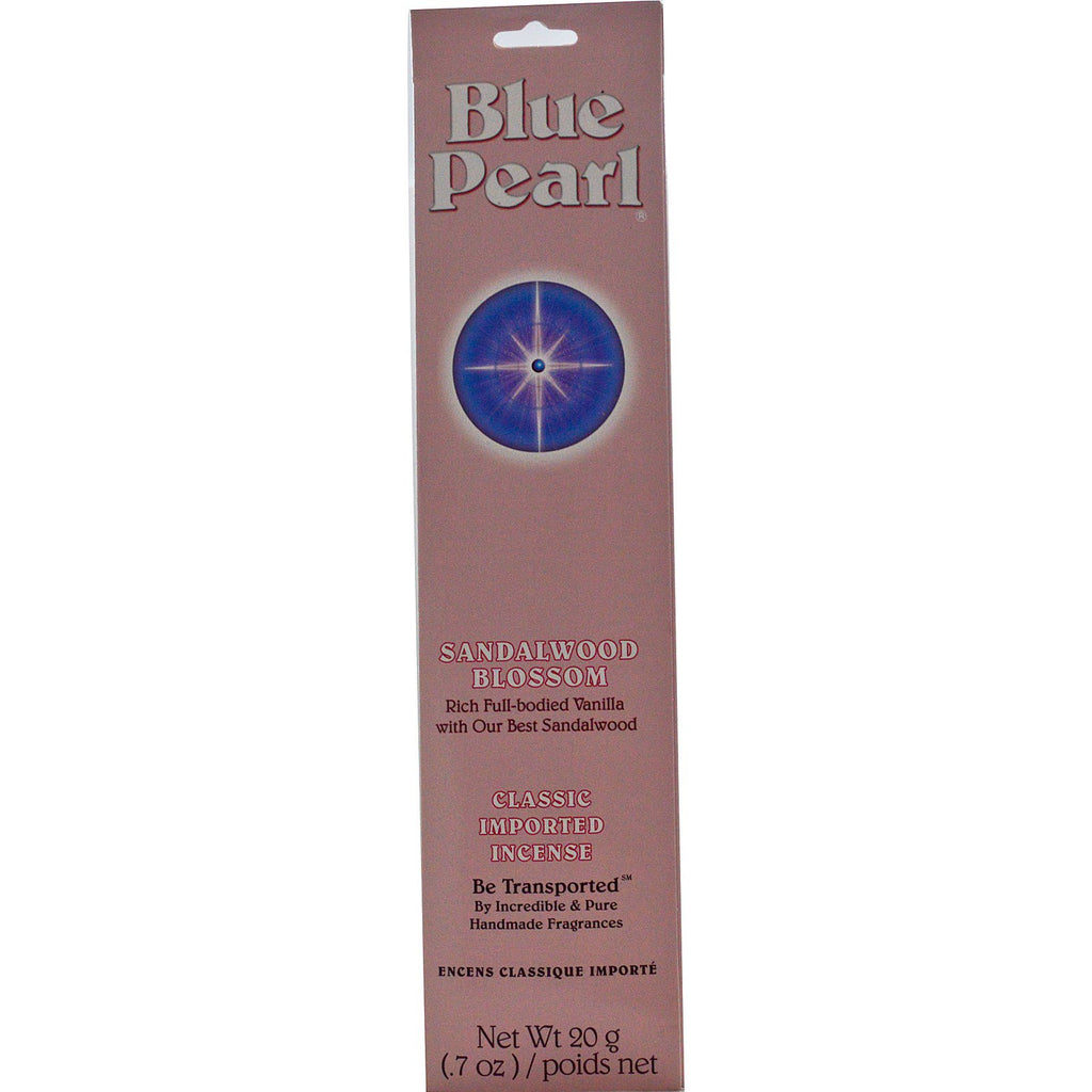 Blue Pearl, Classic Imported Incense, Sandalwood Blossom, 0.7 oz (20 g)