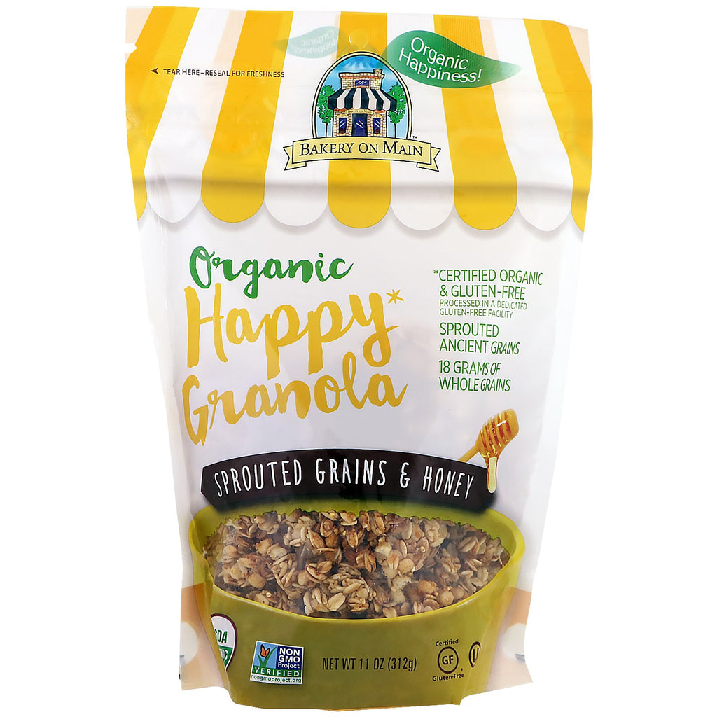Bakery On Main, Organic, Happy Granola, Sprouted Grains & Honey, 11 oz (312 g)