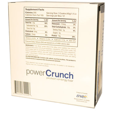 BNRG Power Crunch Protein Energy Bar Cookies and Crème 12 Bars 1.4 oz (40 g) Each