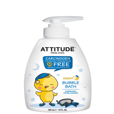 ATTITUDE Little Ones Night Bubble Bath Almond Milk 10 fl oz (300 ml)