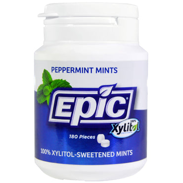 Epic Dental 100% Xylitol-Sweetened Peppermint Mints 180 Pieces
