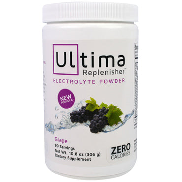 Ultima Health Products, Ultima Replenisher Electrolyte Powder, Grape, 10.8 oz (306 g)
