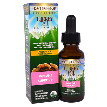 Fungi Perfecti, Host Defense Mushrooms, Organic Turkey Tail Extracts, Immune Support, 1 fl oz (30 ml)
