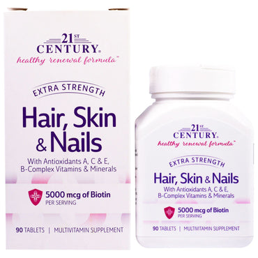21st Century Hair Skin & Nails Extra Strength 90 Tablets