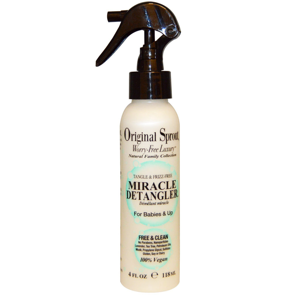 Original Sprout Inc, Miracle Detangler, For Babies & Up, 4 fl oz (118 ml)