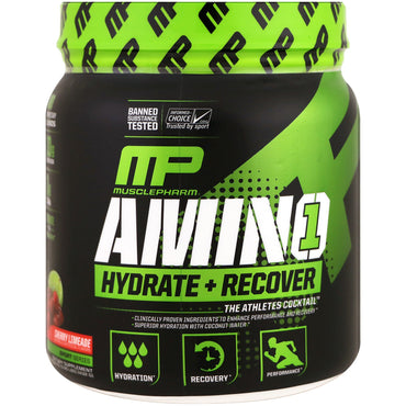 MusclePharm, Amino 1, Hydrate + Recover, Cherry Limeade, 15.24 oz (432 g)