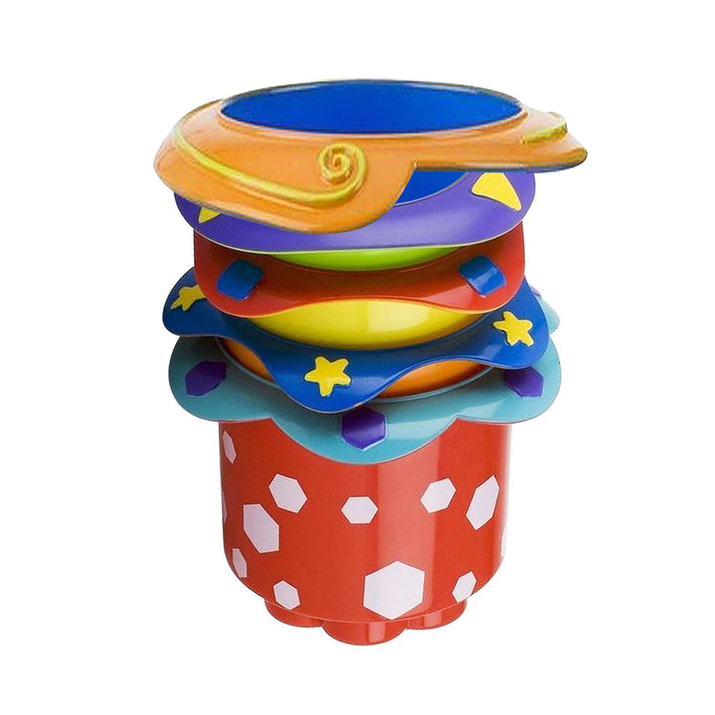 Nuby, Splish Splash Stacking Cups, 9 + Months, 5 Cups