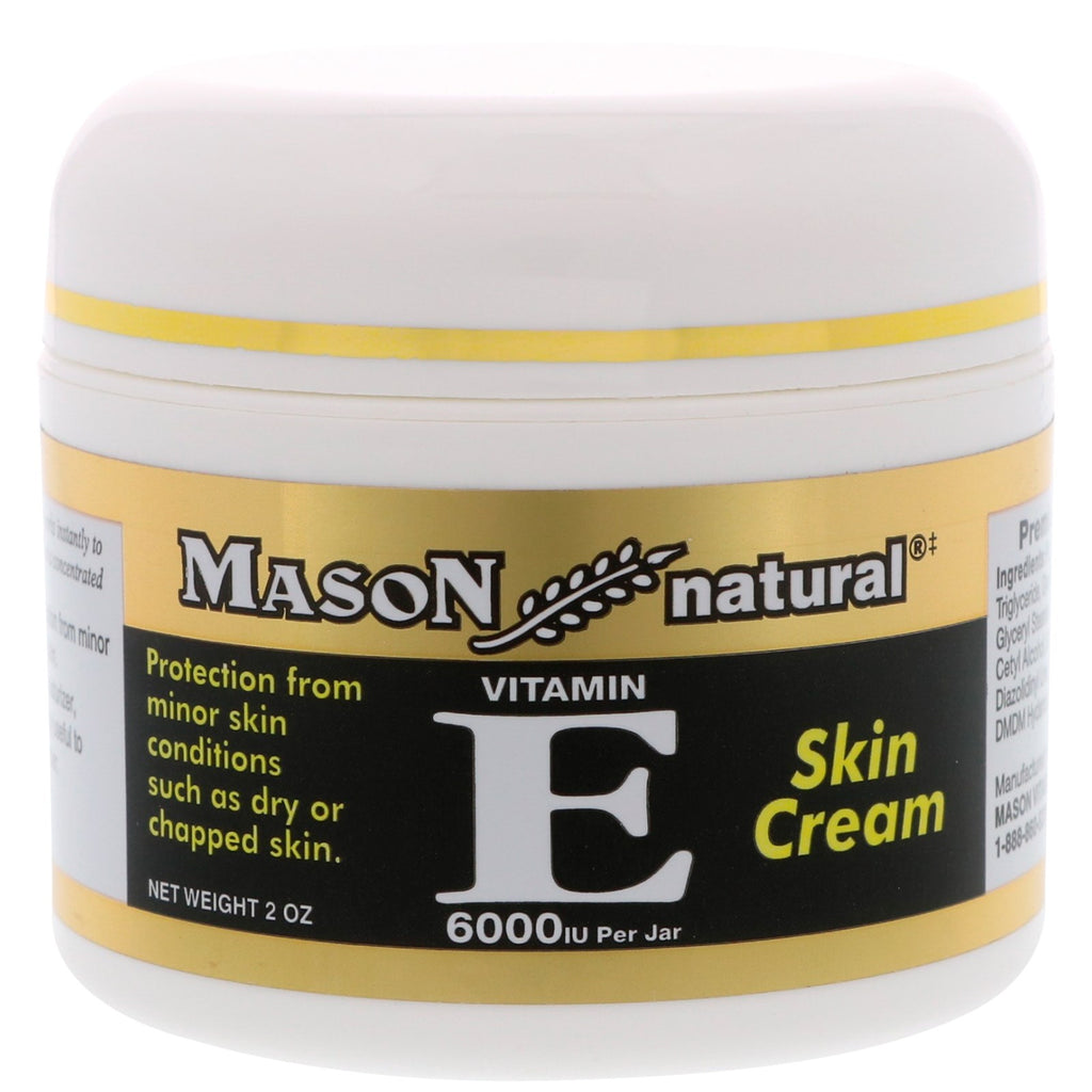 Mason Natural, Vitamin E, Skin Cream, 6000 IU, 2 oz