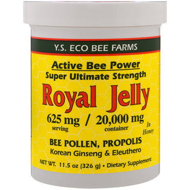 Y.S. Eco Bee Farms, Royal Jelly in Honey, 625 mg, 11.5 oz (326 g)