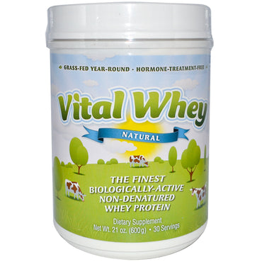 Well Wisdom, Vital Whey, Natural, 21 oz (600 g)