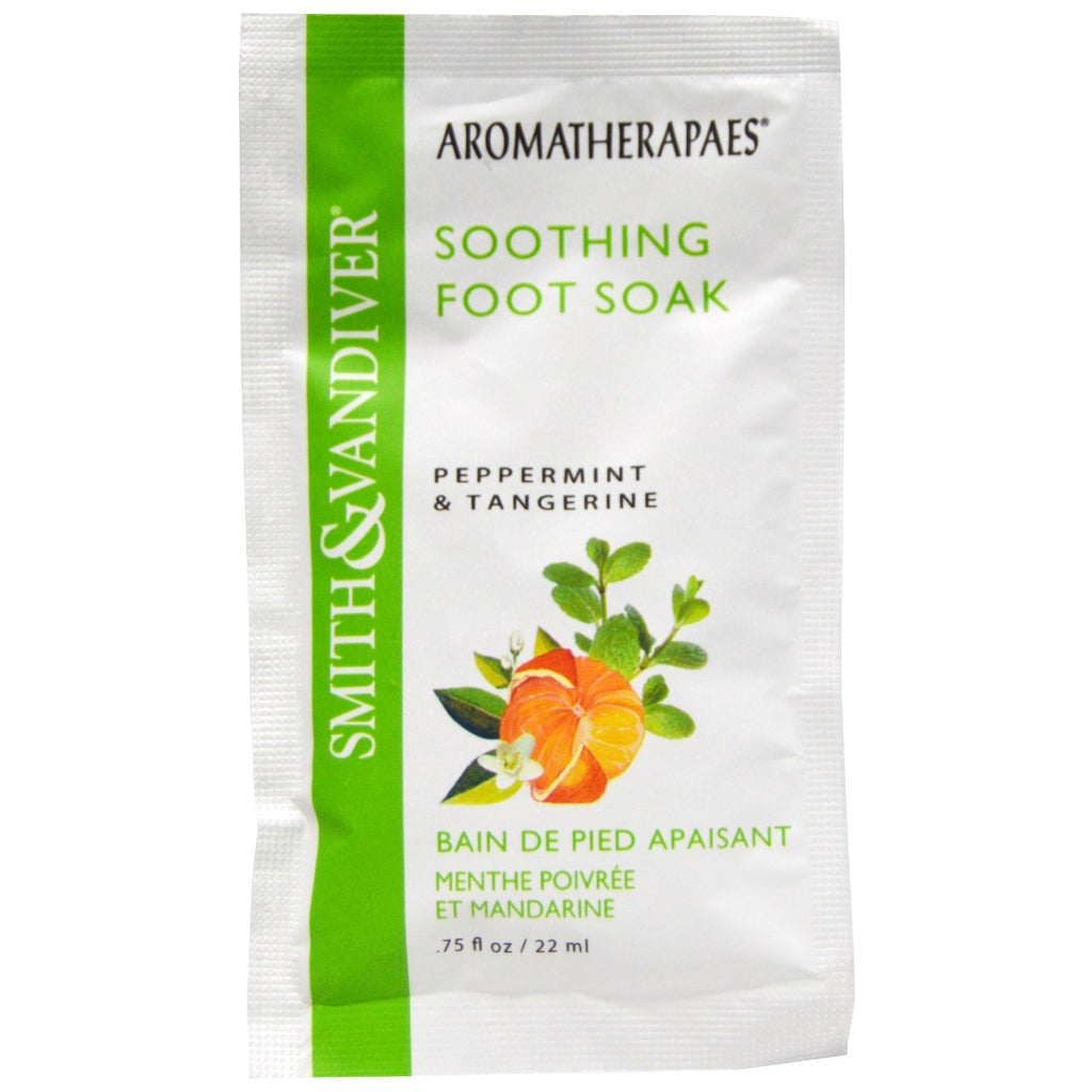 Smith & Vandiver, Smith & Vandiver, Soothing Foot Soak, Peppermint & Tangerine, .75 fl oz (22 ml)