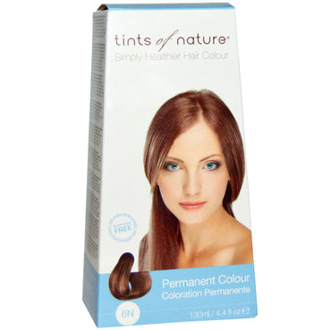 Tints of Nature, Permanent Color, Natural Dark Blonde, 6N, 4.4 fl oz (130 ml)