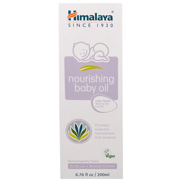 Himalaya, Nourishing Baby Oil, Olive Oil and Winter Cherry, 6.76 fl oz (200 ml)