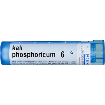 Boiron, Single Remedies, Kali Phosphoricum, 6C, Approx 80 Pellets