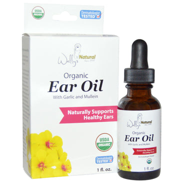 Wally's Natural Products Organic Ear Oil with Garlic and Mullein 1 fl oz