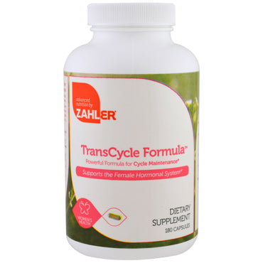Zahler, TransCycle Formula, Powerful Formula for Cycle Maintenance, 180 Capsules